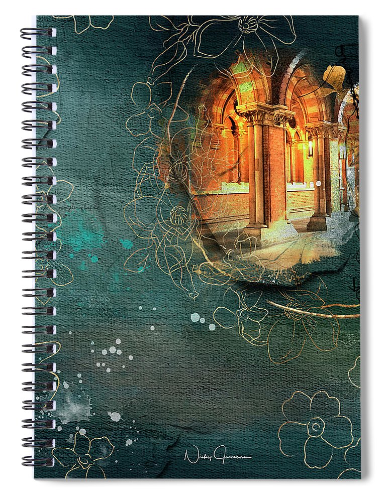 Waterfall - St Pancras International - Spiral Notebook