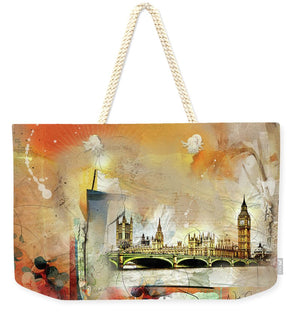 Westminster Bridge - Elizabeth Tower - Big Ben - Weekender Tote Bag