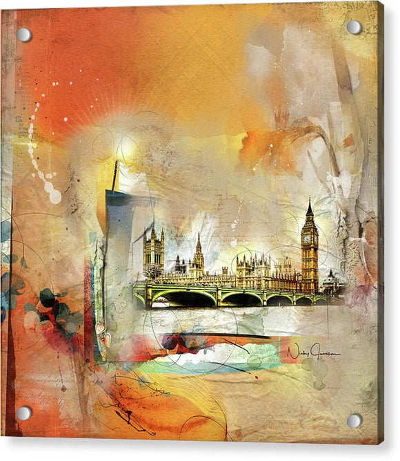 Westminster Bridge - Elizabeth Tower - Big Ben - Acrylic Print