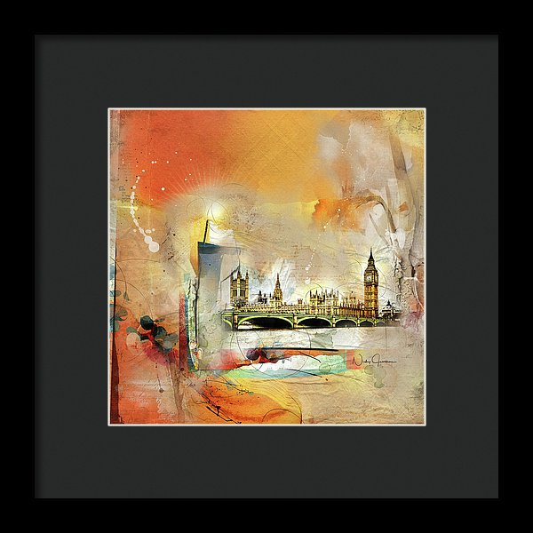 Westminster Bridge - Elizabeth Tower - Big Ben - Framed Print