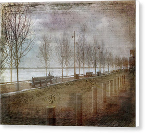 Winters Edge, Toronto Sugar Beach - Canvas Print