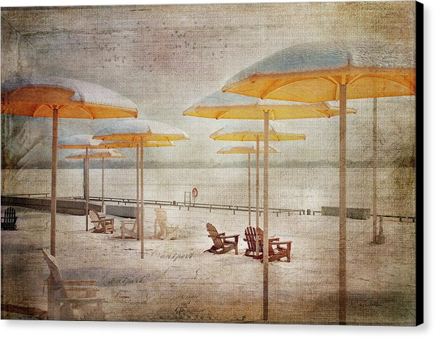 Yellow Parasols In Light - Canvas Print