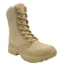 UWC ALTAI™ 8″ Tan Zip Up Combat Boots Model: MFM100-Z