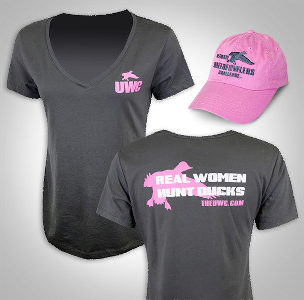 UWC WOMENS WATERFOWL SERIES T-SHIRT & HAT COMBO