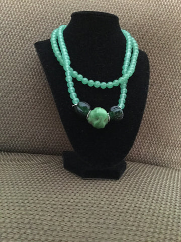 Emerald Wave Necklace