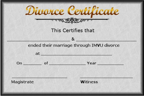Divorce Certificate (in 6-8 weeks)