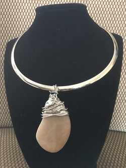 Beige Stone Necklace (SOLD)
