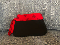 JRE Handmade Red Top Mickey Inspired Wristlet Handbag