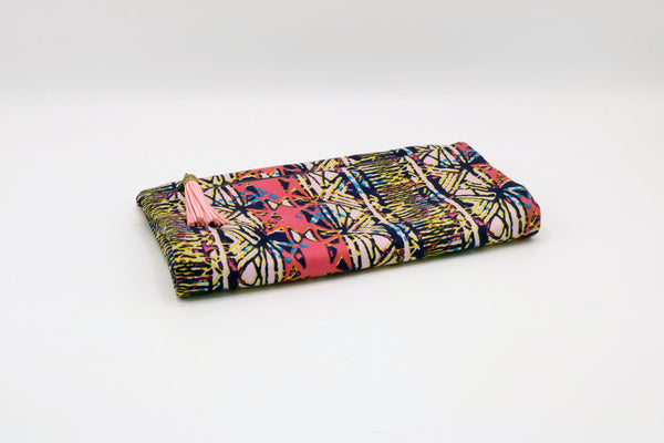 1960'S ABSTRACT SATEEN FOLD OVER CLUTCH