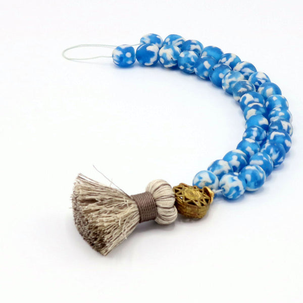 Worry Bead With Silk Tassel
