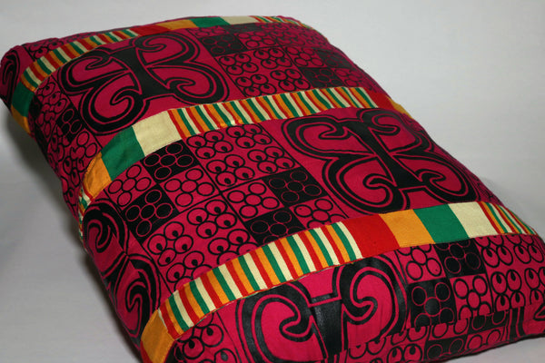 Adrinka With Kente Oversized Decorative Pillow