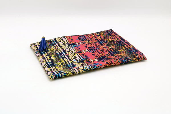 1960'S ABSTRACT SATEEN POUCH