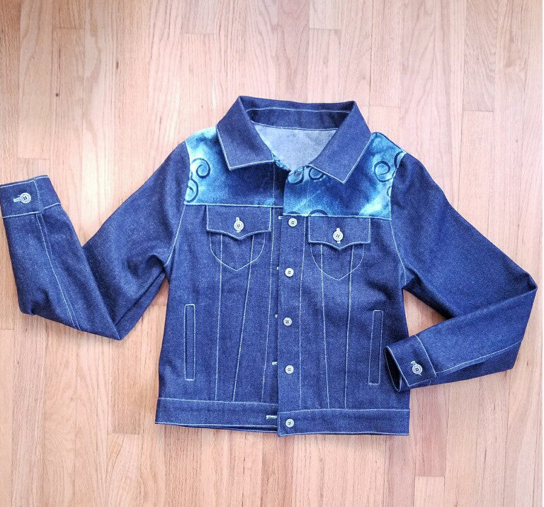 Denim Jacket with WovenWell Signature Stamp