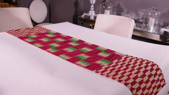 Ghanaian Textile Table Runner (TAB101_sm)