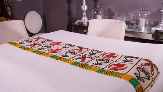 Ghanaian Textile Table Runner (TAB112_med)