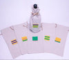 Set of 5 Assorted Linen Wine Totes with Kente Icon