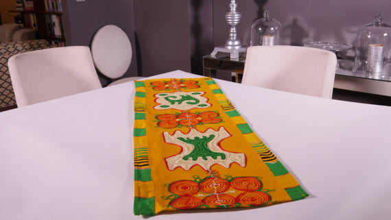 Ghanaian Textile Table Runner (TAB103_sm)