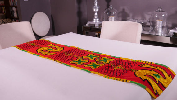 Ghanaian Textile Table Runner (TAB106_lg)