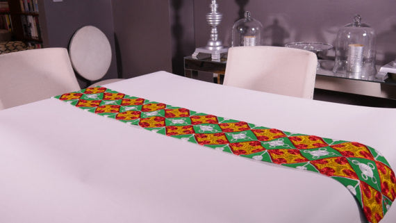 Ghanaian Textile Table Runner (TAB108_med)