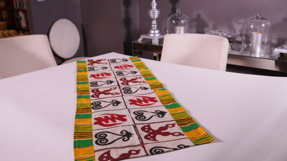 Ghanaian Textile Table Runner (TAB113_sm)