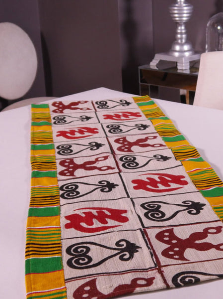 Ghanaian Textile Table Runner (TAB113_xl)