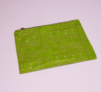 Ghanaian Textile Zippered Pouch