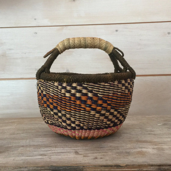 Bolga Mini Basket in Multicolor