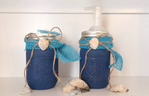 Seashell Mason Jars