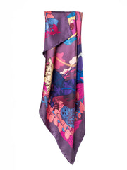 Soldiser Night Day Pink Silk Scarf
