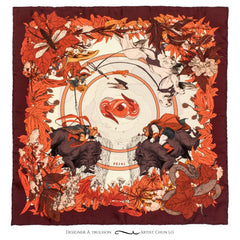 Soldiser Freya Frey Red Silk Pocket Square