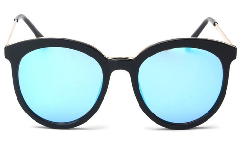 Buy Round Mirrored Women's Sunglasses UV400 online by Fit Miami Style for $14.99
