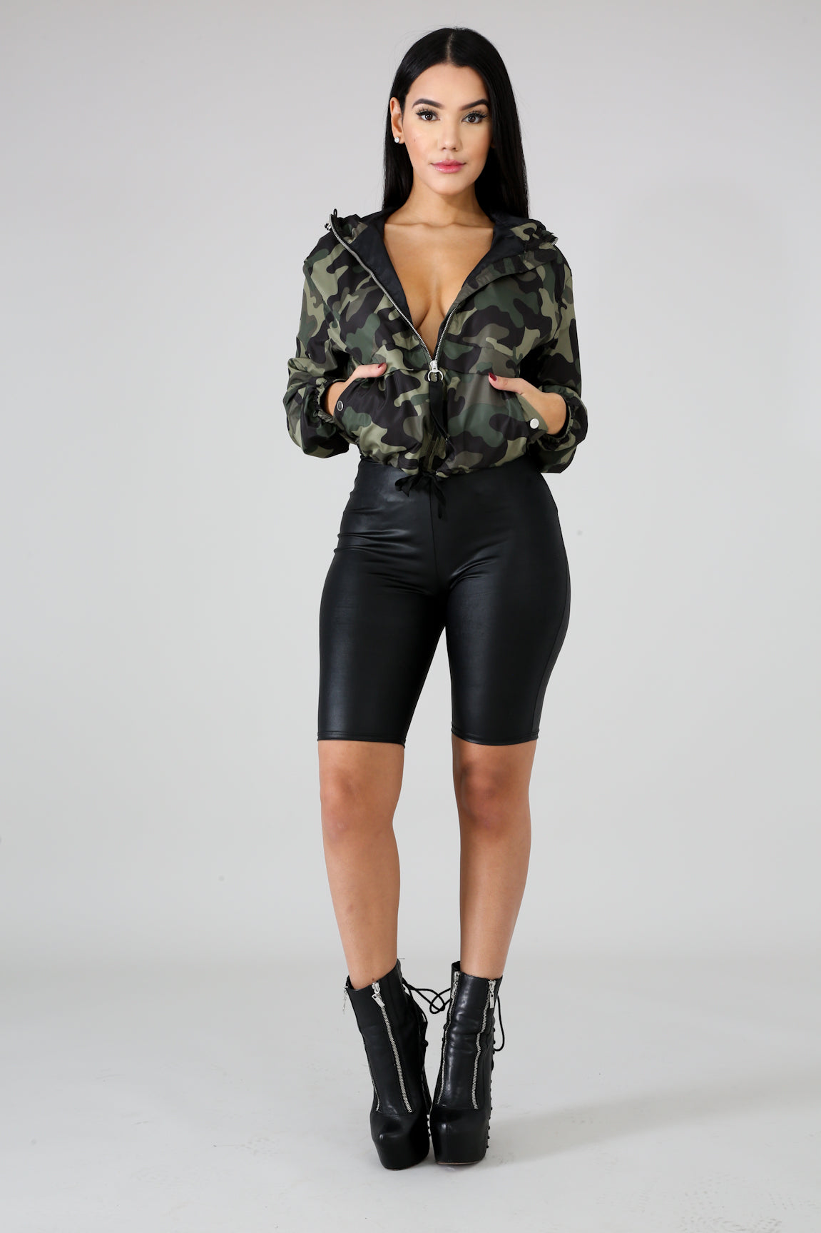 Windbreaker Camouflage Jacket Fit Miami Style