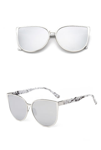 Silver Cat Eye Sunglasses For Women