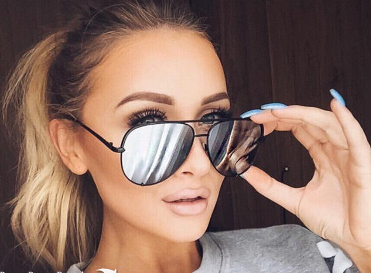 Buy Fashion Mirror Aviator Sunglasses Silver online by Fit Miami Style for $14.99
