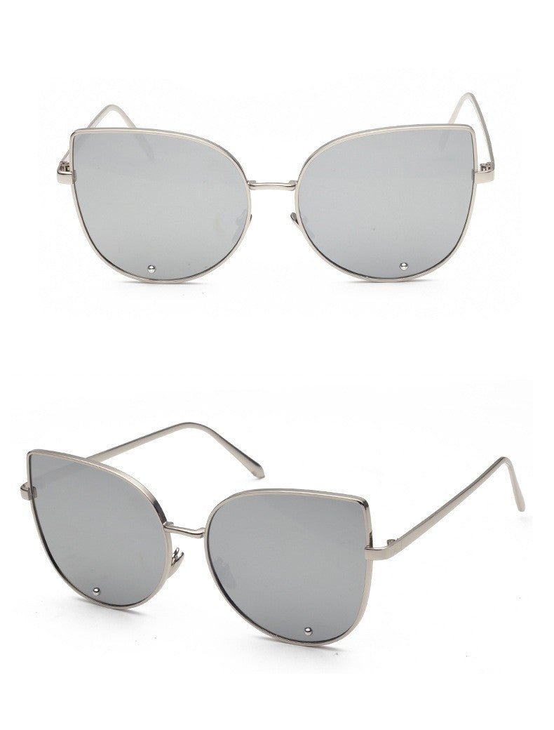 Buy Fashion Cat Eye Mirrored Women's Sunglasses UV400 online by Fit Miami Style for $13.99