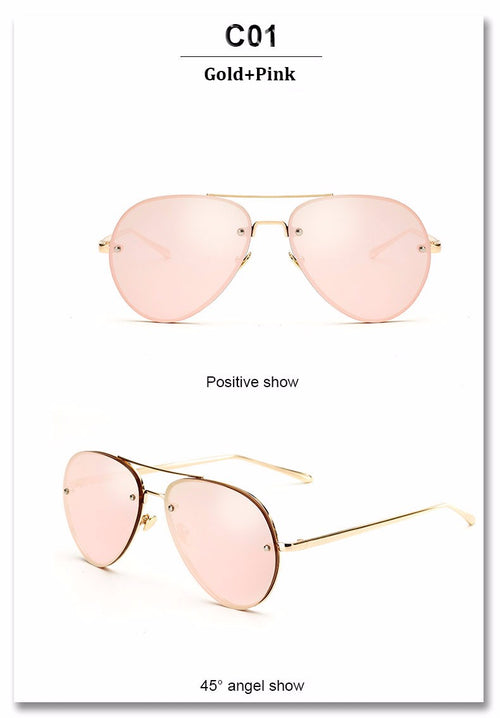 Buy Round Oversized Mirror Women's Pilot Sunglasses online by Fit Miami Style for $15.99