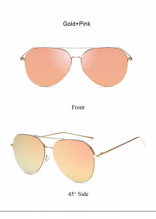aviator rose gold sunglasses for women