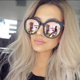 Round Mirrored Sunglasses For Women