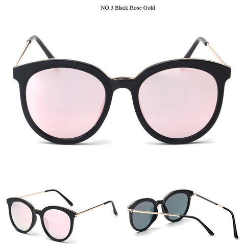 Round Mirrored Women's Sunglasses UV400