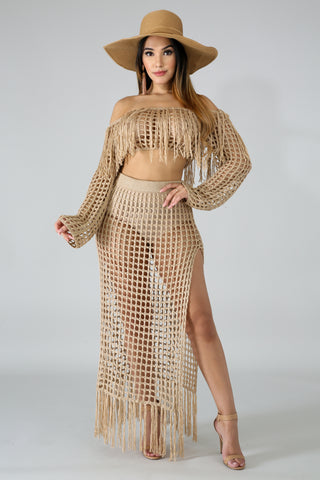 Jessy Knit Net Cover Up Dress