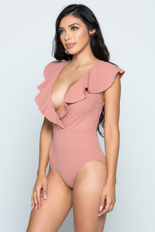 Buy Plunge Front Bodysuit online by Fit Miami Style for $32.99