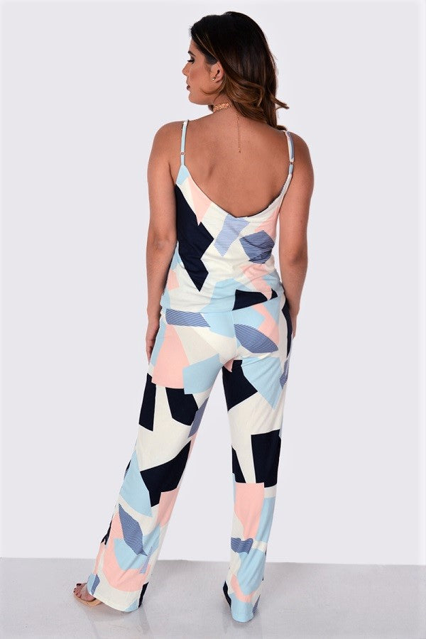 Fit Miami Style Cotton Sling Two Pieces Jumpsuit