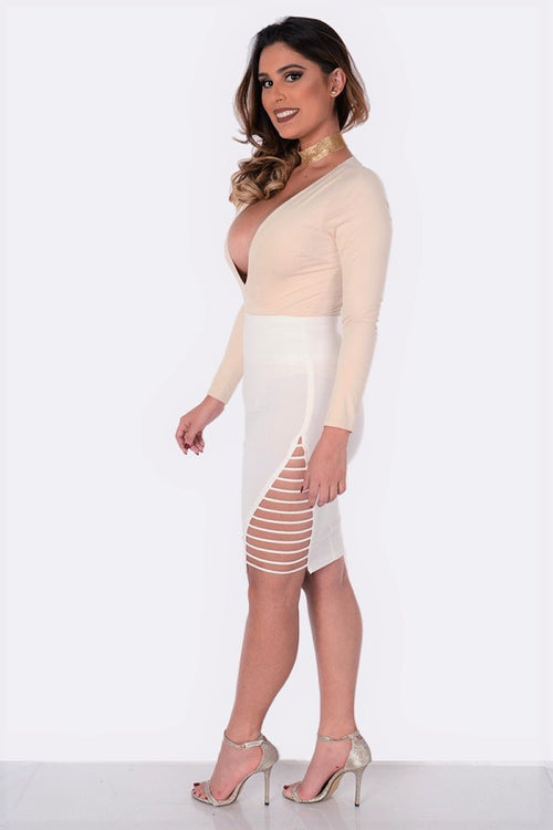Fit Miami Style Side Strap Pencil Skirt