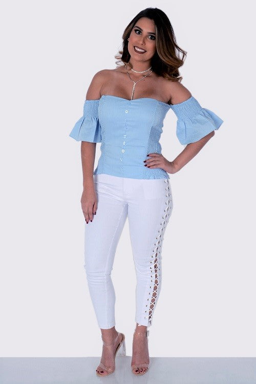 Fit Miami Style Off Shoulder Blouse