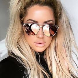 Buy Luxury Cat Eye Mirrored Women's Sunglasses Q&K online by Fit Miami Style for $9.99