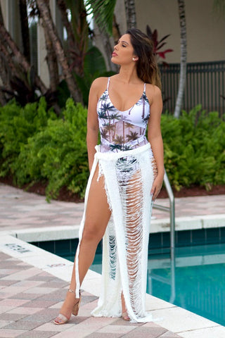 Buy Tie Around Maxi Skirt Cover Up online by Fit Miami Style for $39.99