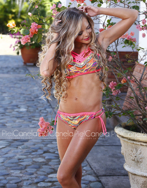 buy Bikini Set Swimsuit 2076 Fuchsia online by Fit Miami Style for $41.99