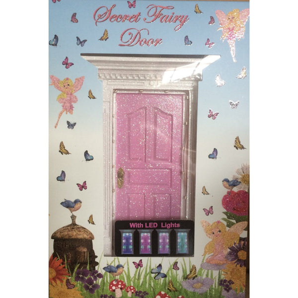 All Products,fairy Doors - Light Up Pink Fairy Door