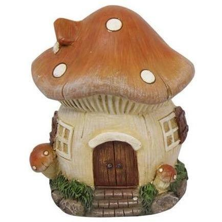 All Products,Fairy Houses - Brown Mushroom Fairy House 10cm