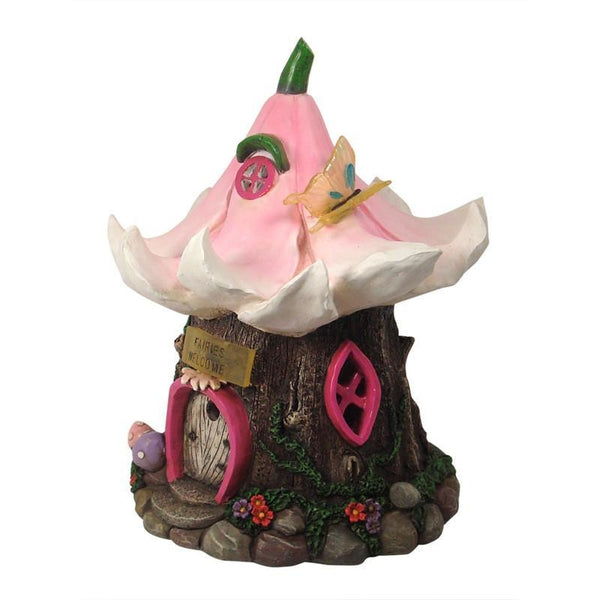 Flower Fairy House LED Fairies Welcome